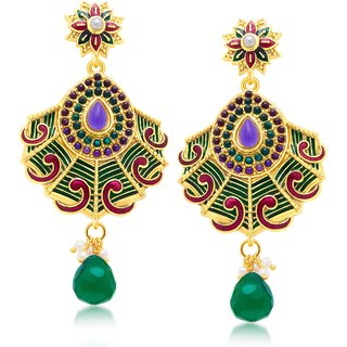 Sukkhi Delightly Gold Plated Dangle Earring For Women