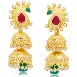 Sukkhi Gleaming Gold Plated Earring For Women