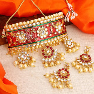 Sukkhi Padmavati Inspired Austrian Diamond choker necklace Set for Women