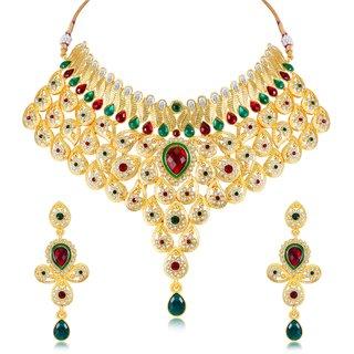 Sukkhi Amazing Gold Plated Necklace Set For Women