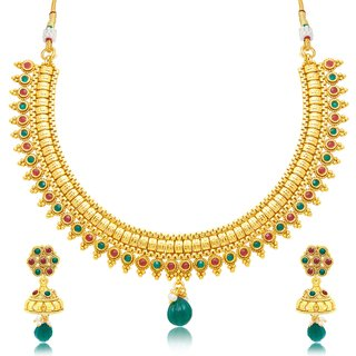 Sukkhi Stylish Gold Plated Choker Necklace Set For Women