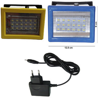 X-EON 786 LED Rechargeable Emergency Light Combo of 2 Unit with Charger - Model 786 - Colour Assorted