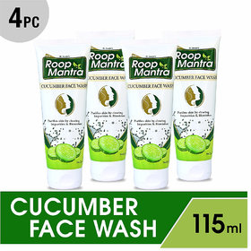 Roop Mantra Herbal Cucumber Face Wash (Pack of 4)