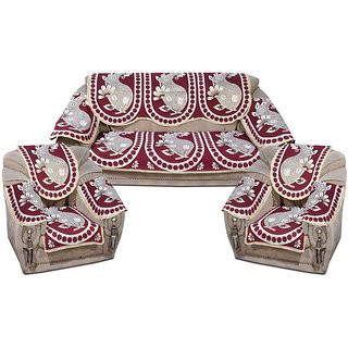 Shiv Kirpa 5 Seater Multicolor  Sofa Cover Pack Of 6