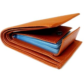 Ibex Men Tan Artificial Leather Wallet
