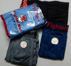 (Pack of 5)Fighter Man Cotton Briefs with Outerelasitc Attractive Style