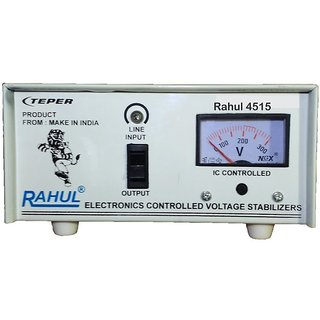 Rahul 4515 c 300 VA 140-280 Volt 1 LCD/LED TV +DVD/DTH/Music System Automatic Voltage Stabilizer