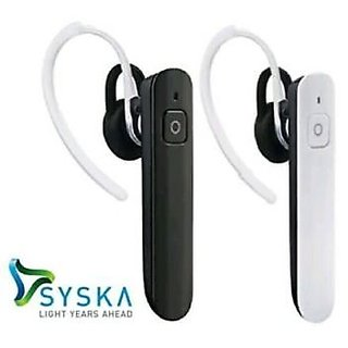 Syska Wireless Bluetooth Headset H904 Mono With A2DP Version 3.0 + EDR