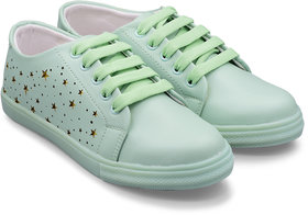 Trendy Look Lazer Sneakers For Women  (Green)