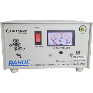 Rahul 1023 a 600 VA/2 AMP 140-280 Volt 1 Refrigerator 90 Ltr to 185 Ltr 3 Step Auto Matic Voltage Stabilizer