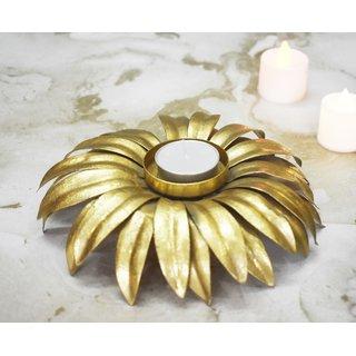 Color Palatte Gold Medium Flower T Light Holders