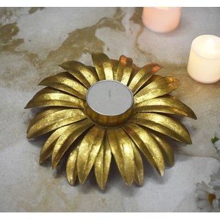 Color Palatte Gold Large Flower T Light Holders