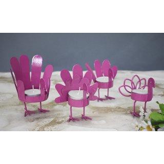 Color Palatte Pink Bird T Light Holders