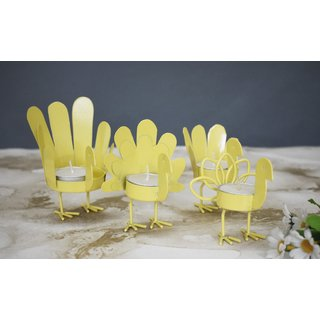 Color Palatte Yellow Bird T Light Holders