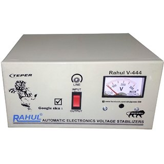 Rahul V-444 a1 KVA/4 AMP 140-280 Volt 5 Step 1 Computers/Washing Machine/Refrigerator 180 Ltr to 290 Ltr A/M Stabilizer