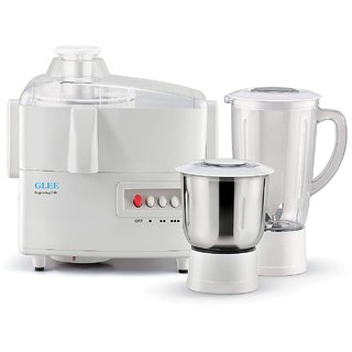 GLEE real jmg 2 jar 550 Juicer Mixer Grinder (White 2 Jars)
