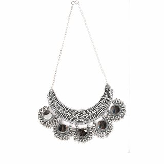 Oxidised Silver Plated Designe Necklace by Sparkling Jewellery