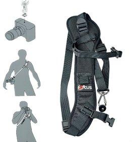 Focus F-1 Anti-Slip Quick Rapid Shoulder Sling Belt Neck Strap For Camera Slr Dslr Black