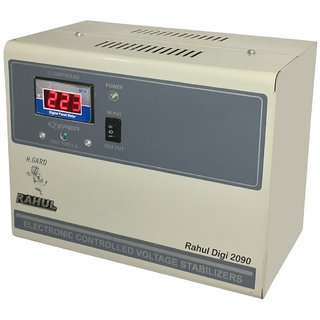 Rahul Digi 2090 a 2 KVA/8 AMP 100-280 Volt 3Step 2 Computer Printer Scanner Photo Copier or Photostat Machine Stabilizer