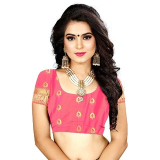 Sindoor Peach Color Silk Saree