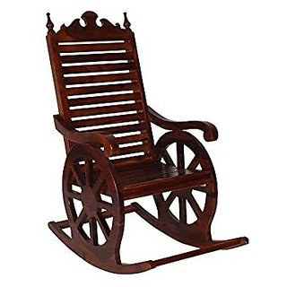 Desi Karigar Wooden Rocking Chair