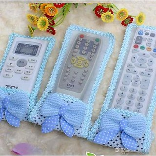 Decorcrafts Cute and Attractive Dust Proof Remote Control Cover Protective Case (Set Of 3 Pcs)
