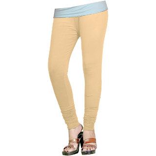 Naisargee Women's and Girl's Skin Cotton Chudidar Length Leggings (Free Size)