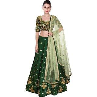 New Latest Bollywood Designer Green Beauty Embroidered Lehenga Choli
