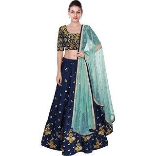 New Latest Bollywood Designer Blue Beauty Embroidered Lehenga Choli
