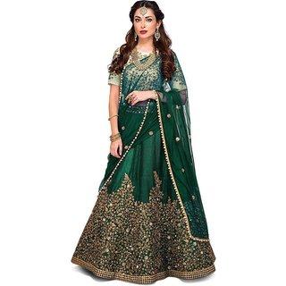 New Latest Bollywood Designer Green Zeli Embroidered Lehenga Choli