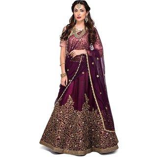 New Latest Bollywood Designer Puple Zeli Embroidered Lehenga Choli