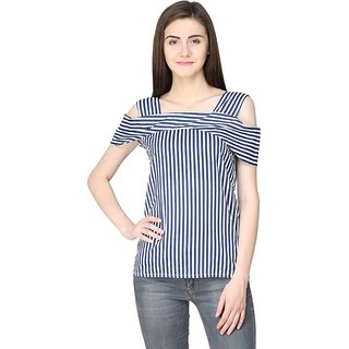d4afdd246 Buy Aisa Fashion Poly Crepe Navy Top for Women Online - Get 69% Off