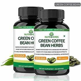 Nutriherbs 100% Natural Green Coffee Bean Herbs 800Mg (