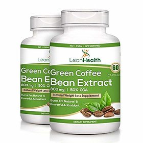 Leanhealth Green Coffee Bean Extract Pure (50% Cga) 800