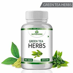 Nutriherbs Green Tea - 60 Capsules (Pack Of 1 Bottle)
