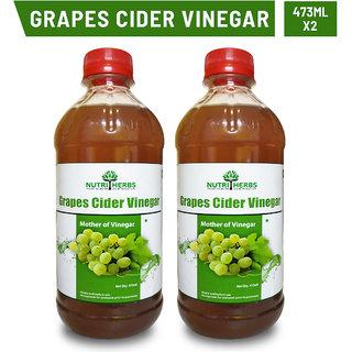 Nutriherbs Grapes Cider Vinegar 473 ml(pack of 2)