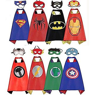 59855607b547 Fancydresswale Dress up costume Superhero Capes set with mask for Boys and  Girls- Birthday party gift for kids Character- SPIDER GIRL