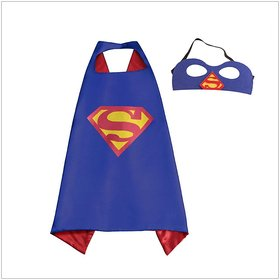 Fancydresswale Dress up costume Superhero Capes set with mask for Boys and Girls- Birthday party gift for kids Character- SUPERMAN