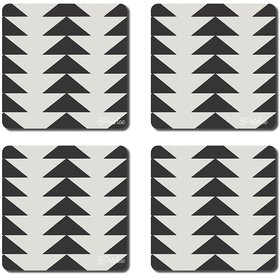 Prishee Abstract Coasters Multi Colored 3.5 Inch X 3.5 Inch Square Shaped Set of 4 - Best for Gifting