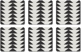 Prishee Abstract Coasters Multi Colored 3.5 Inch X 3.5 Inch Square Shaped Set of 6 - Best for Gifting