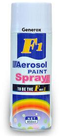 F1 Aerosol Multi Purpose Spray Paint for Car/Bike/Cycle/Home etc. (White) 450 ml