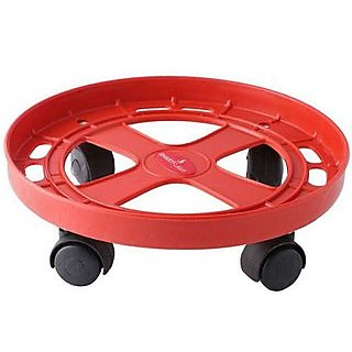 LPG Gas Cylinder Trolley With 4 Wheels,Gas Trolley,Cylinder Stand,Color May Vary