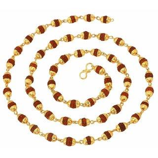 Rudraksha Mala Gold Capning