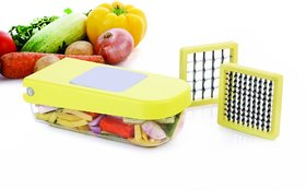 Ganesh Fruit  Vegetable Compact Chopper/Dicer/Cutter Slicer  With  2Two Blades