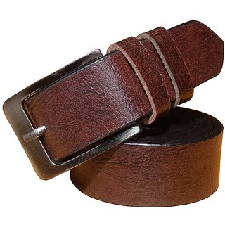 Roxelcraft men brown belt (Synthetic leather/Rexine)