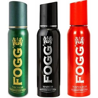 fogg fresh napoleon  and victor and marco deodorant for man (pack of 3)