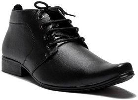 00RA ANKLE LENGTH BLACK COLOR OFFICE WEAR FORMAL SHOES FOR MEN LONG MEN'S BOOTS