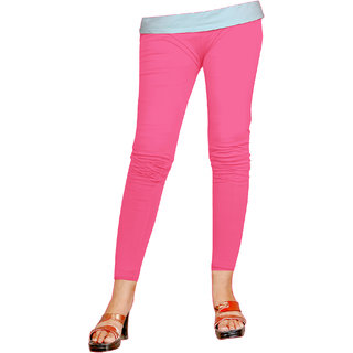 Naisargee Women's and Girl's Baby Pink Silk Ankle Length Leggings -(XL Size)