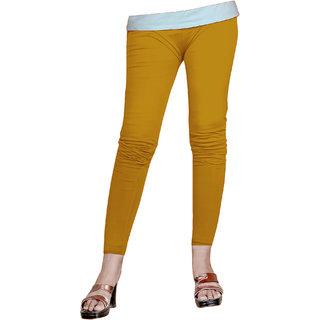 Naisargee Women's and Girl's Golden Silk Ankle Length Leggings -(XL Size)