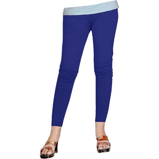 Naisargee Women's and Girl's Royal Blue Silk Ankle Length Leggings -(XL Size)